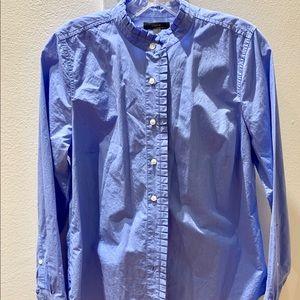 J Crew  Mandarin Collared long sleeved shirt